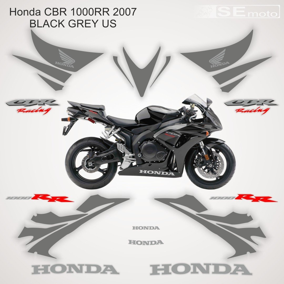 Honda CBR 1000RR 2007 BLACK GREY US